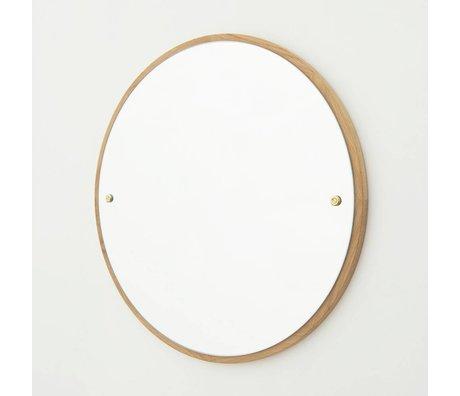 Frama Shop Spiegel CM braun aus Eichenholz Ø60cm