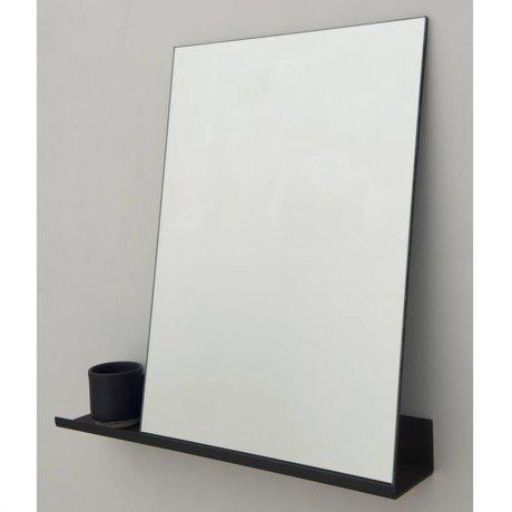 Frama Shop Mirror Hylde sort aluminium 50x50cm