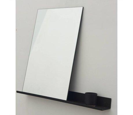 Frama Shop Spiegel Shelf schwarz Aluminium 70x90cm