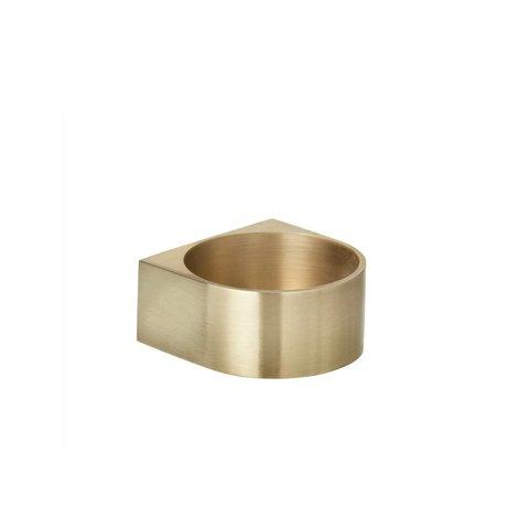 Ferm Living Candlestick blok Messing Gold 6,2x3cm