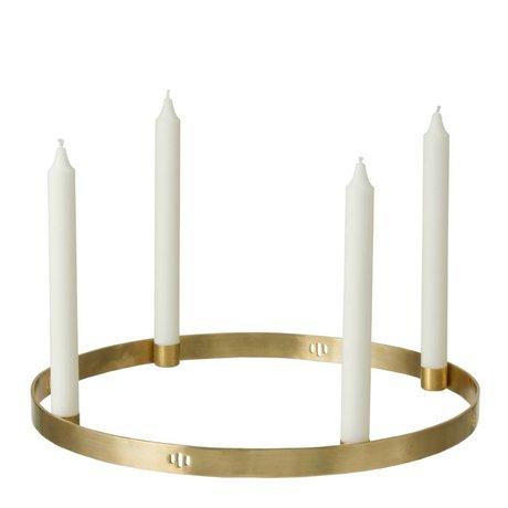 Ferm Living Círculo candelabro de latón ø38cm oro
