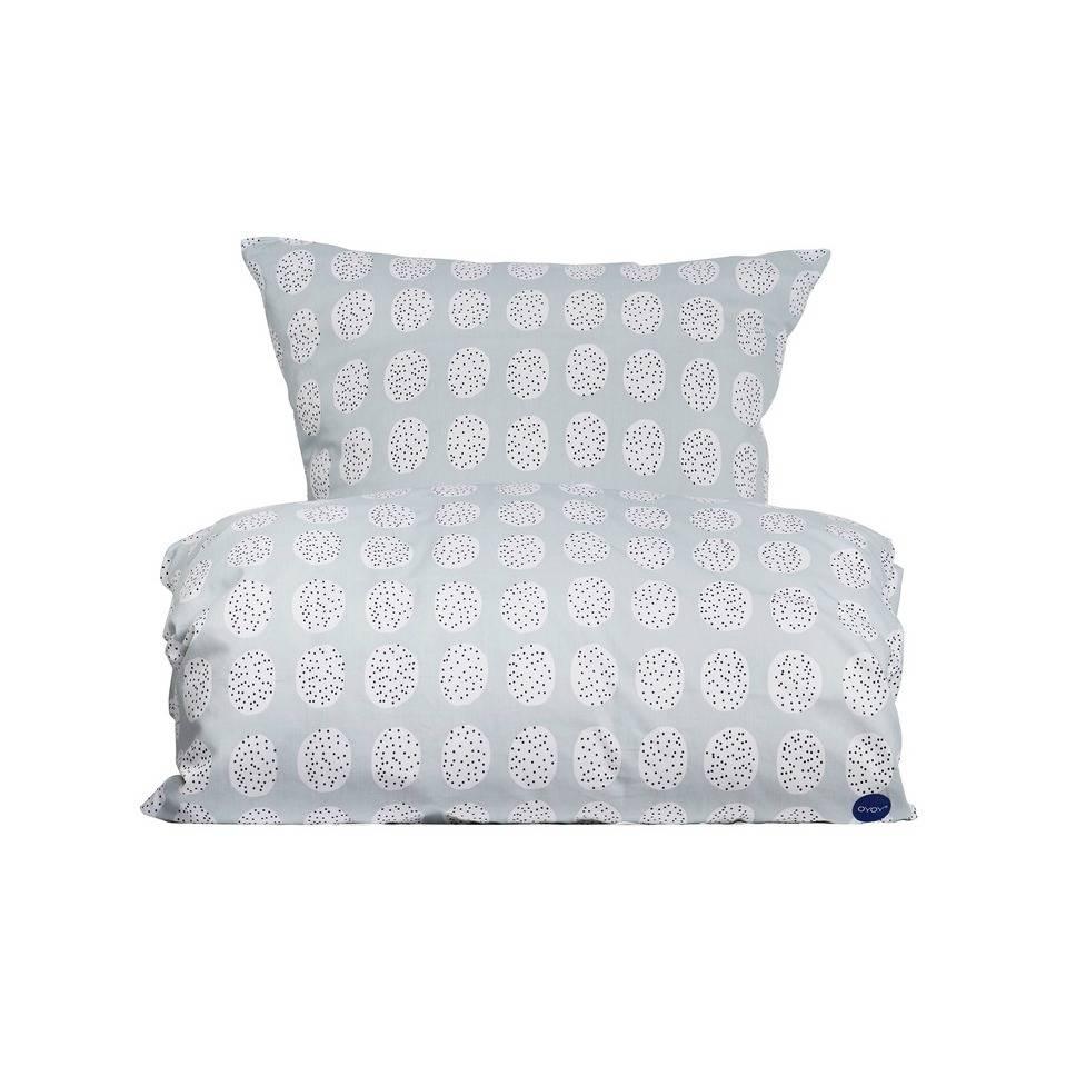 Oyoy Bettwäsche Haya Bedding In Grau Weiß Aus Baumwolle 140x220cm