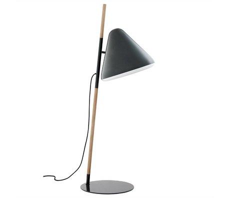 Normann Copenhagen Lámpara de pie de metal gris Hola Ø49x165cm madera