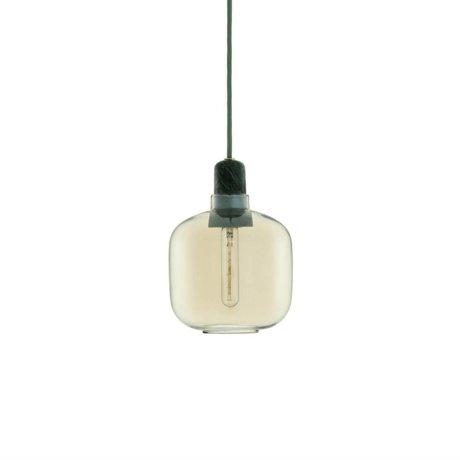 Normann Copenhagen Deckenlampe Amp in grün mit gold aus Glas mit Marmorfassung Ø14x17cm