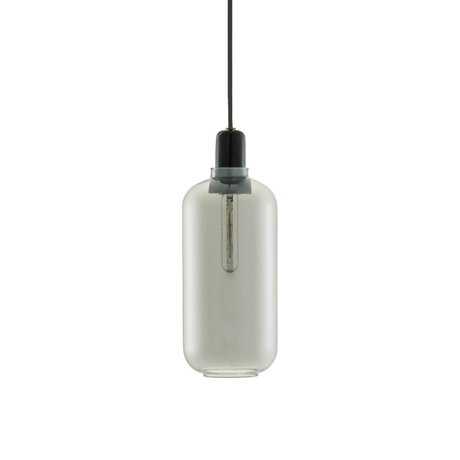 Normann Copenhagen Lampada a sospensione in vetro nero Amp marmo Ø11,2x26cm