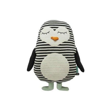 OYOY Penguin bianco 31x41cm cotone nero