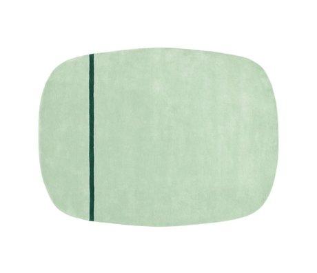 Normann Copenhagen tapis de laine Oona menthe verte 175x240cm