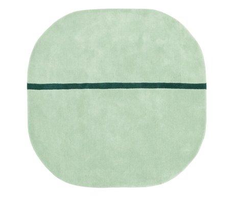 Normann Copenhagen Oona alfombra de lana verde menta 140x140cm