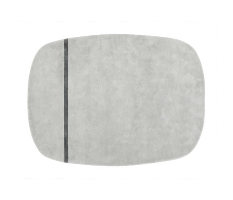 Normann Copenhagen Tapis de laine Oona 175x240cm gris