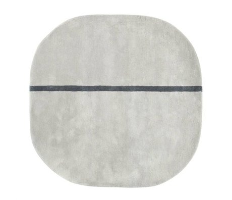 Normann Copenhagen Oona alfombra de lana gris 140x140cm