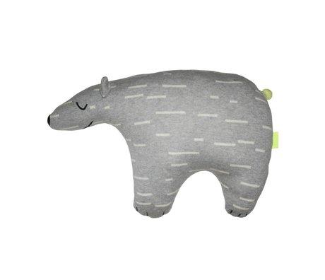 OYOY Plush Knut Polar grå hvid bomuld 52x14x34cm