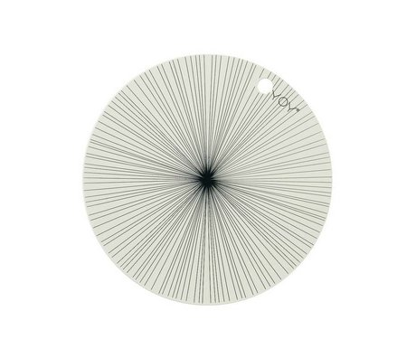 OYOY Tovaglietta bianco set silicone nero di due 39x0,15cm