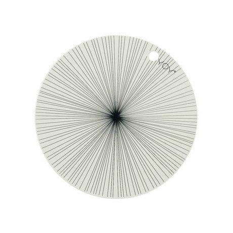 OYOY Platzdeckchen schwarz weiß Silikon Set 39x0,15cm
