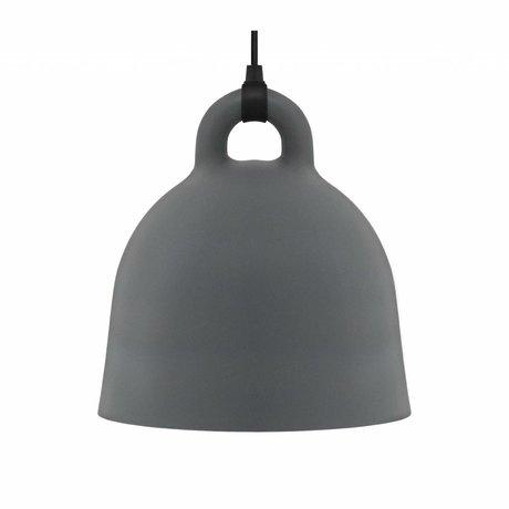 Normann Copenhagen Hängelampe Bell grau Aluminium M Ø42x44cm