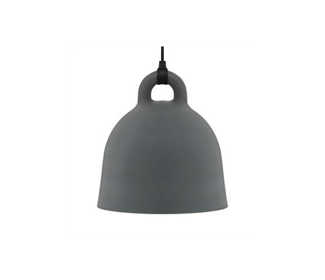 Normann Copenhagen Suspension de Bell en aluminium gris XS Ø22x23cm
