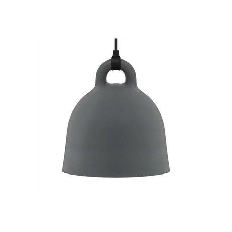 Normann Copenhagen Lampada a sospensione Campana grigio alluminio XS Ø22x23cm