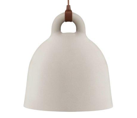 Normann Copenhagen Hängelampe Bell sand brun aluminium L Ø55x57cm