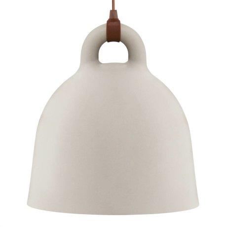 Normann Copenhagen arena Hängelampe campana de aluminio marrón L Ø55x57cm