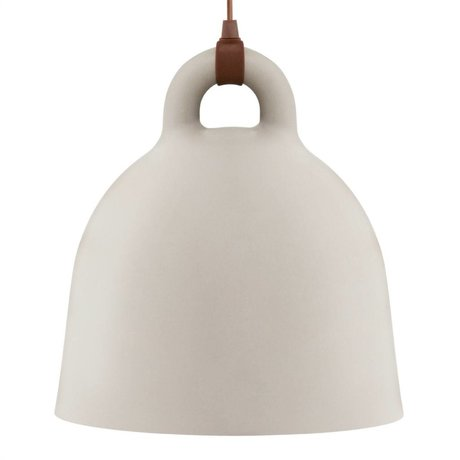 Normann Copenhagen Pendelleuchte Bell Sandbraun Aluminium L Ø55x57cm