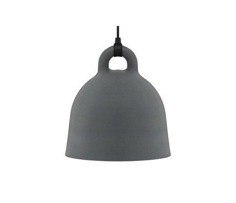 Normann Copenhagen Pendelleuchte Bell grau Aluminium S Ø35x37cm