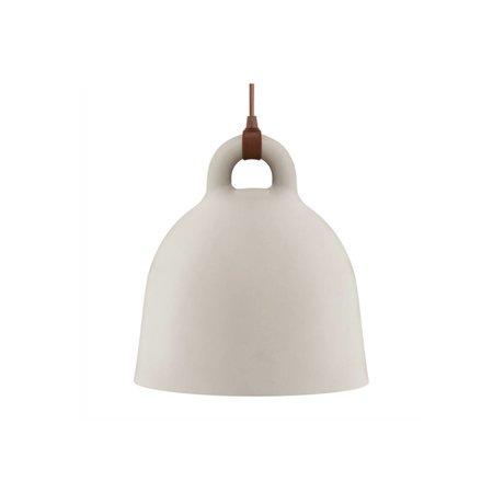 Normann Copenhagen Lámpara colgante de Bell de arena de aluminio marrón XS Ø22x23cm