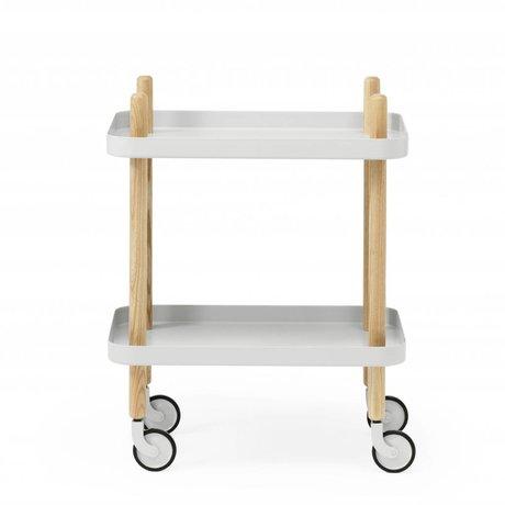 Normann Copenhagen Sideblokken lysegrå stål 35x64x50cm tømmer