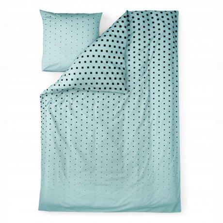 Normann Copenhagen Bedcover Cube blue cotton 140x200cm
