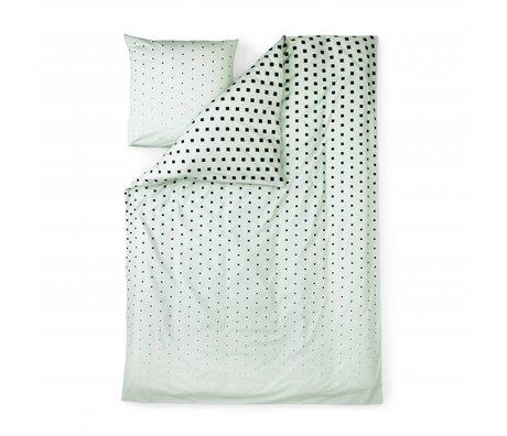 Normann Copenhagen Bedcover Cubo de menta 140x200cm de algodón verde
