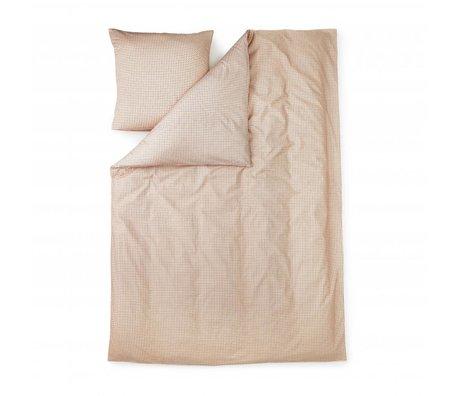 Normann Copenhagen Duvet Cover Plus pink cotton 140x200cm