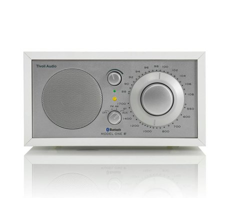 Tivoli Audio Shop Tabla Radio Uno Bluetooth 21,3x13,3xh11,4cm plata blanca