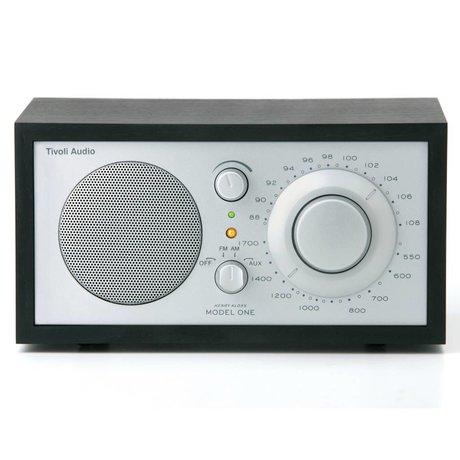 Tivoli Audio Shop Tabella Radio Uno nero 21,3x13,3xh11,4cm argento