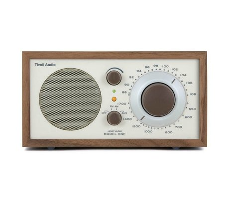Tivoli Audio Shop Tabella Radio One noce 21,3x13,3xh11,4cm beige