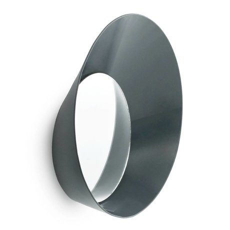 Normann Copenhagen Coat Hook with Mirror Ready Hook gray steel ø20x5cm