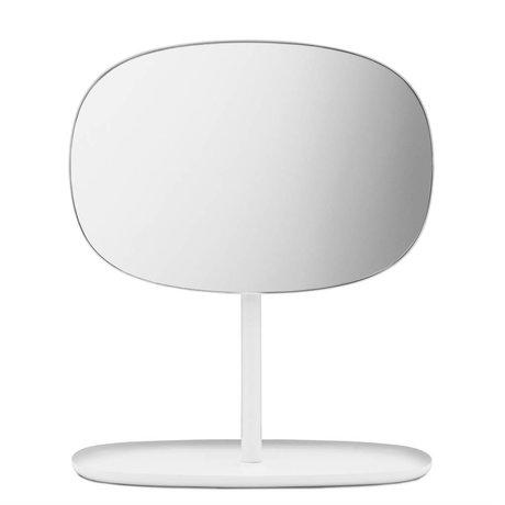 Normann Copenhagen Spiegel Flip Mirror weiß Stahl 28x19,5x34,5cm