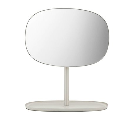 Normann Copenhagen Mirror Mirror Flip sand color steel 28x19,5x34,5cm