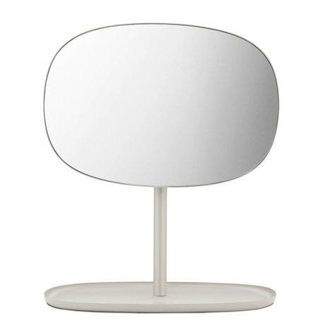 Normann Copenhagen Spiegel Flip Mirror Sandfarbe Stahl 28x19,5x34,5cm