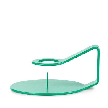 Normann Copenhagen Kerzenständer Nocto Aqua grün Zink 12x10,2x6cm