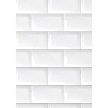 Kek Amsterdam 089 piastrelle di carta da parati, bianco, 8.3mx 47,5 centimetri