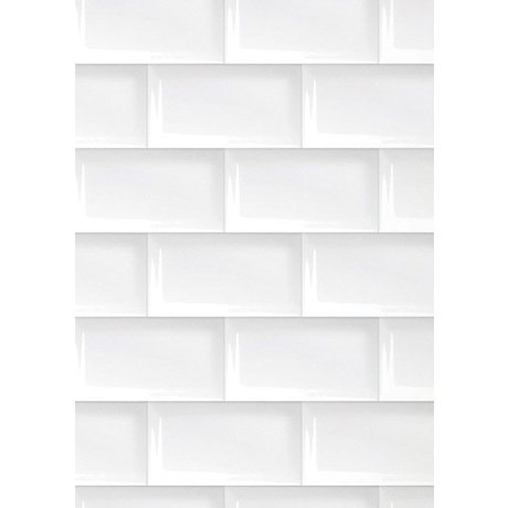 Kek Amsterdam 089 tiles wallpaper, white, 8.3mx 47.5 cm