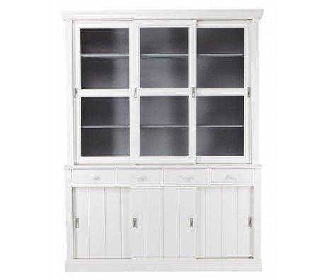 LEF collections LAGOS Buffet cabinet in legno di pino, bianco, 215x166x48 cm