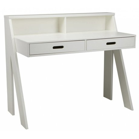 LEF collections Bureau MAX en pin, blanc, 112x55x93cm