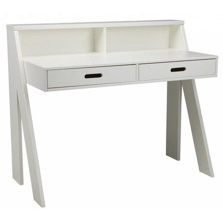 LEF collections Schreibtisch MAX aus Kiefer, weiß, 112x55x93cm
