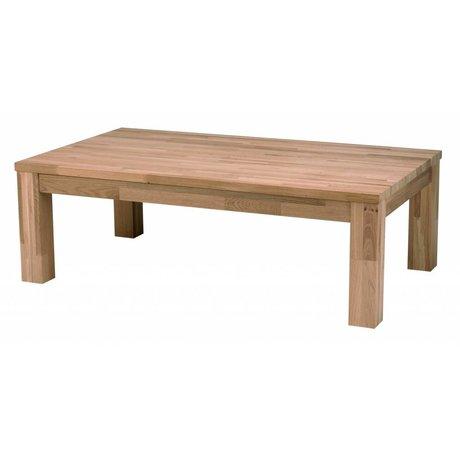 LEF collections Mesa de centro de madera de roble LARGO, marrón, 180x85x40cm