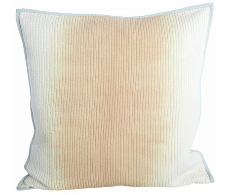 Housedoctor Cushion cover made of viscose / cotton, nude / gray, 50x50cm