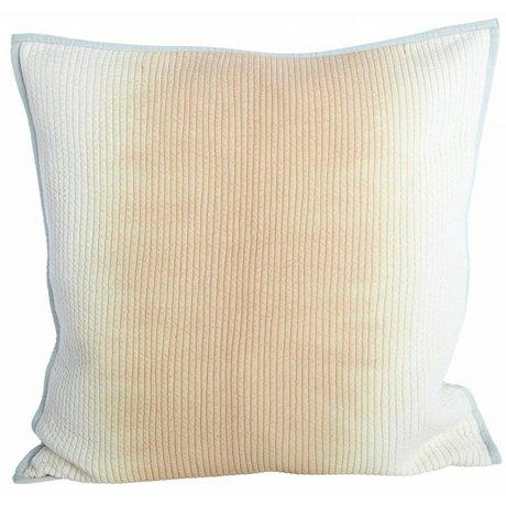 Housedoctor Fodera per cuscino realizzato in viscosa / cotone, nudo / grigio, 50x50cm