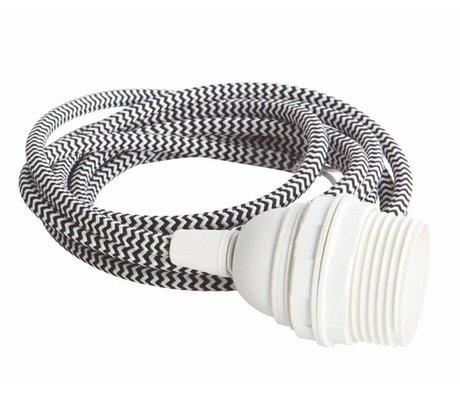 Housedoctor Cable eléctrico con enchufe E27, 300 cm blanco / negro,