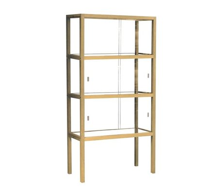 HK-living Display cabinet glass / wood, 75x36x148cm