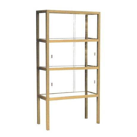 HK-living Visualizzare vetrina / legno, 75x36x148cm
