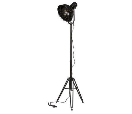 BePureHome Lámpara de pie de metal negro 167x54x45cm estimado