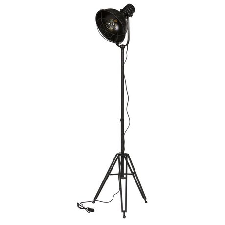 BePureHome Floor lamp black metal 167x54x45cm estimated